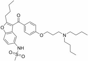Dronedarone 2d skeletal