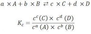 Calculation of the Law of Mass Action