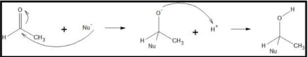 Mechanism of Nucleophilic Addition Reaction of Aldehyde