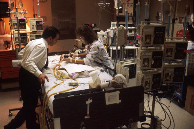 Child treated in ICU