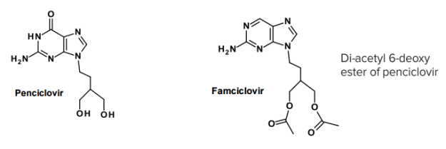 Famciclovir (produg of Penciclovir)