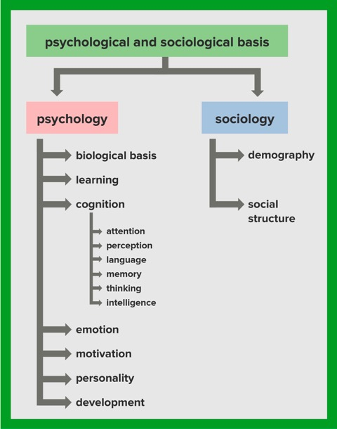graphic about psychology sociolog basis