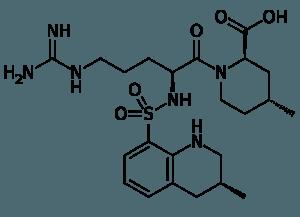 Skeletal formula of Argatroban